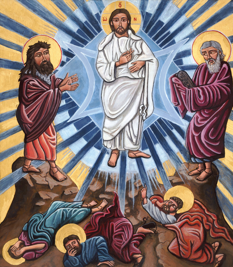 Transfiguration of Jesus devotional artwork